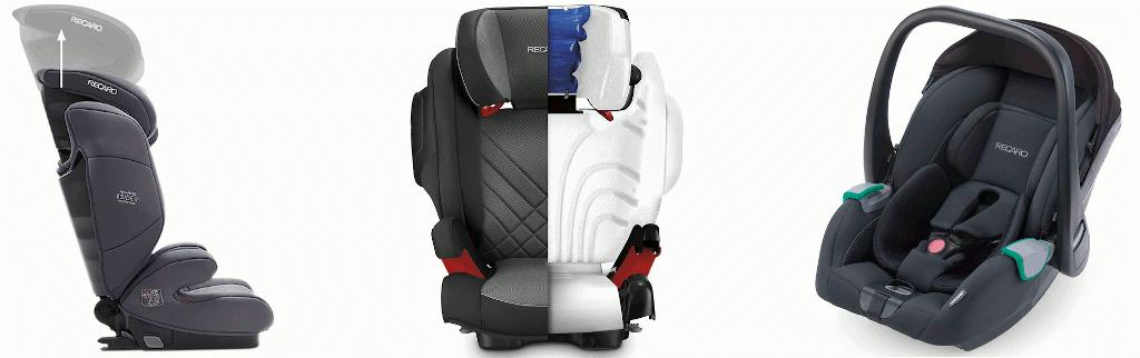 Recaro Kindersitze sind für Neugeborene und Kinder bis zu 12 Jahren erhältlich